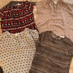 Lot of 4 H&M Short Sleeve Dress Tops. Size 4